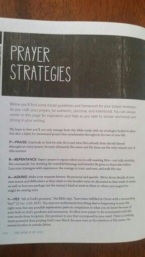 Prayer Strategies from the Armor of God  PRAY acronym | War Room