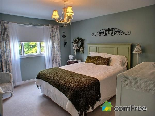 Ideas for bedroom bright headboard small chandelier and for Blinds for bedroom windows