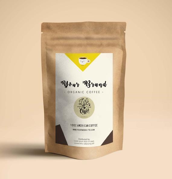 Labelkemasan: Coffee Bag Label Custom Printable Coffee Bag Stickers