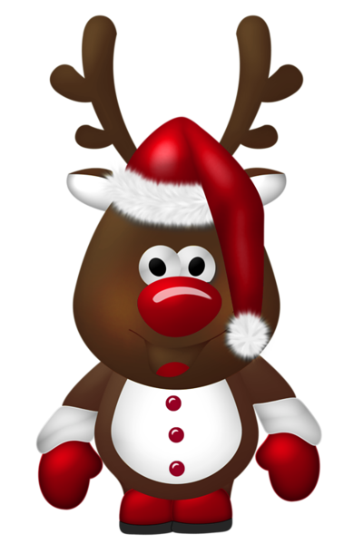 Cute Christmas Reindeer Transparent PNG Clipart Зима