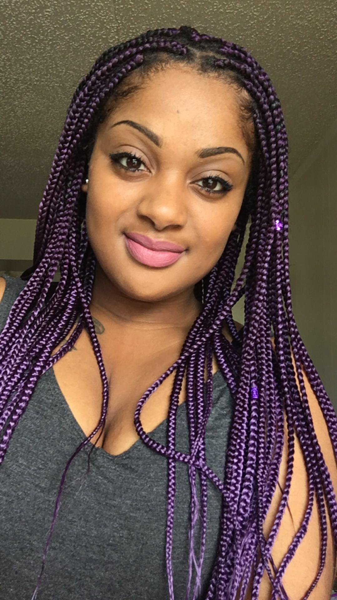 Purple Box Braids Xpressions Hair Only Box Braid Killa
