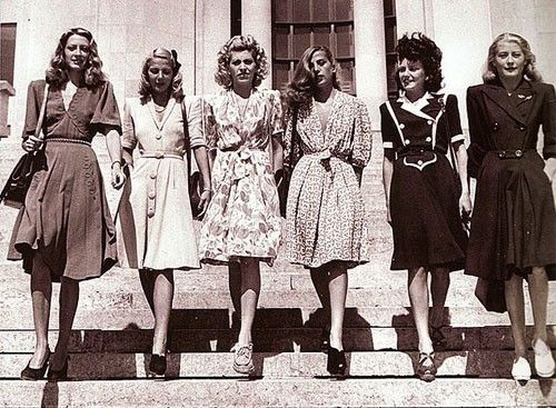 Vintage 1940s Fashion By Krystalvintage Vintage Fashion