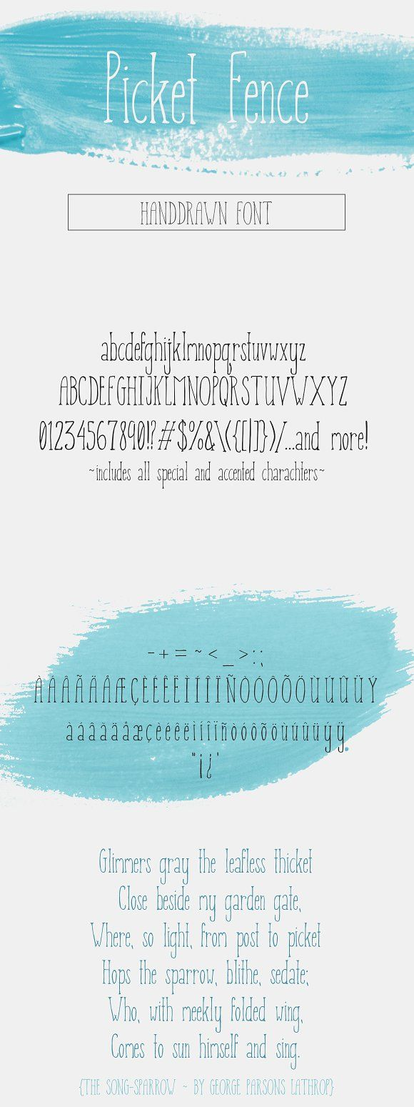 Picket Fence - Handdrawn Font by plaidgecko on @creativemarket