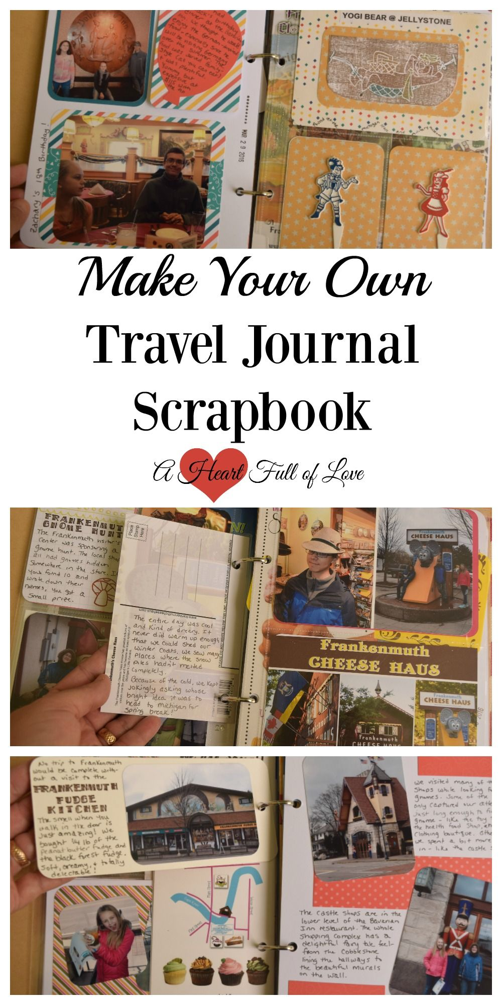 How to scrapbook travel - Learn How To Make Your Own Travel Journal Scrapbook To