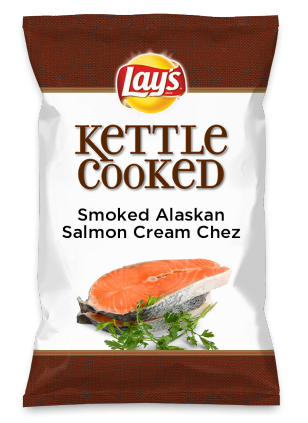 Wouldn't Smoked Alaskan Salmon Cream Chez be yummy as a chip? Lay's Do Us A Flavor is back, and the search is on for the yummiest chip idea. Create one using your favorite flavors from around the country and you could win $1 million! https://www.dousaflavor.com See Rules.