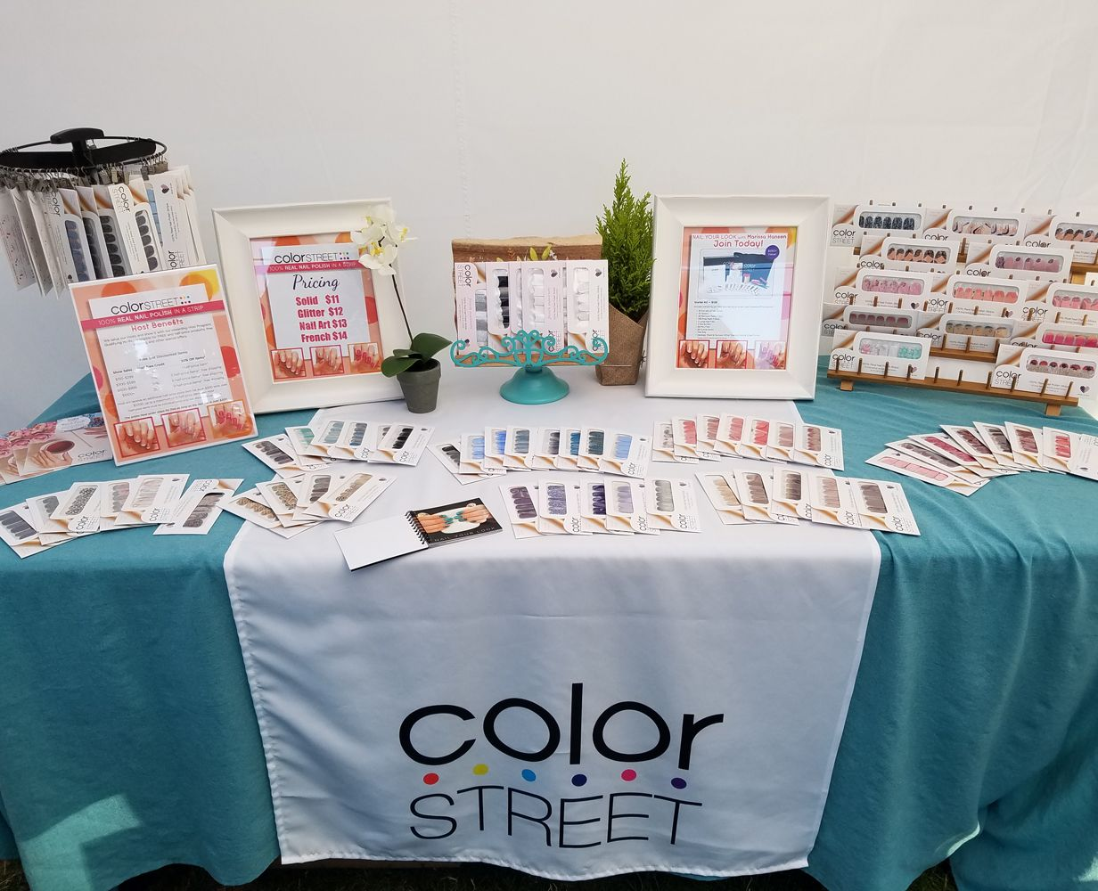 Color Street Vendor Event Color Street table cloth Color Street Runner Color Street Table Runner and Black Table Cloth Combo