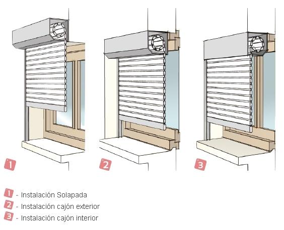 Persianas Enrollables Exterior Aluminio Con Cajón Sin Obras Persianas De Aluminio Ventanas De Aluminio Puertas Corredizas De Interiores