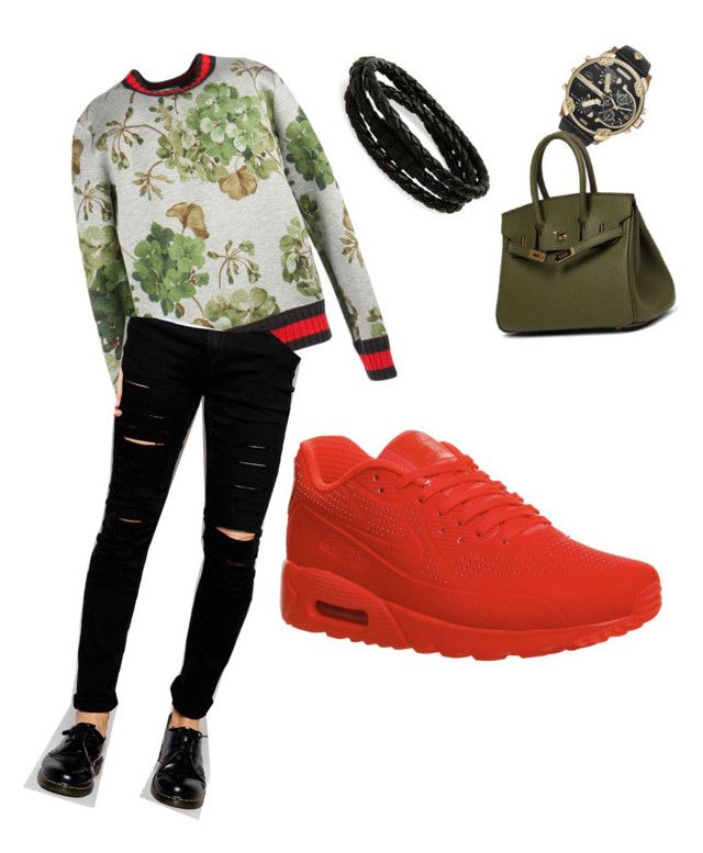 """""""Untitled #9"""" by trevordjones on Polyvore featuring Gucci, NIKE, Cheap Monday, Porsche Design, Diesel, mens, men, men's wear, mens wear and male"""