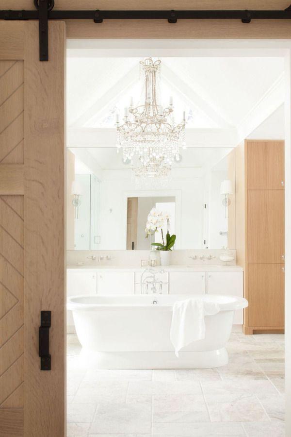 Wood white bathroom / salle de bains blanc bois Salle de bains
