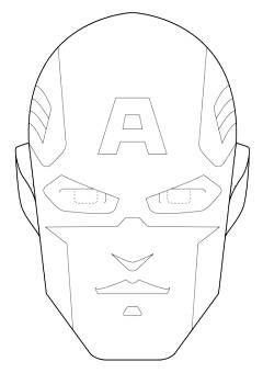 Maschera Di Capitan America Da Stampare E Colorare Dizajn
