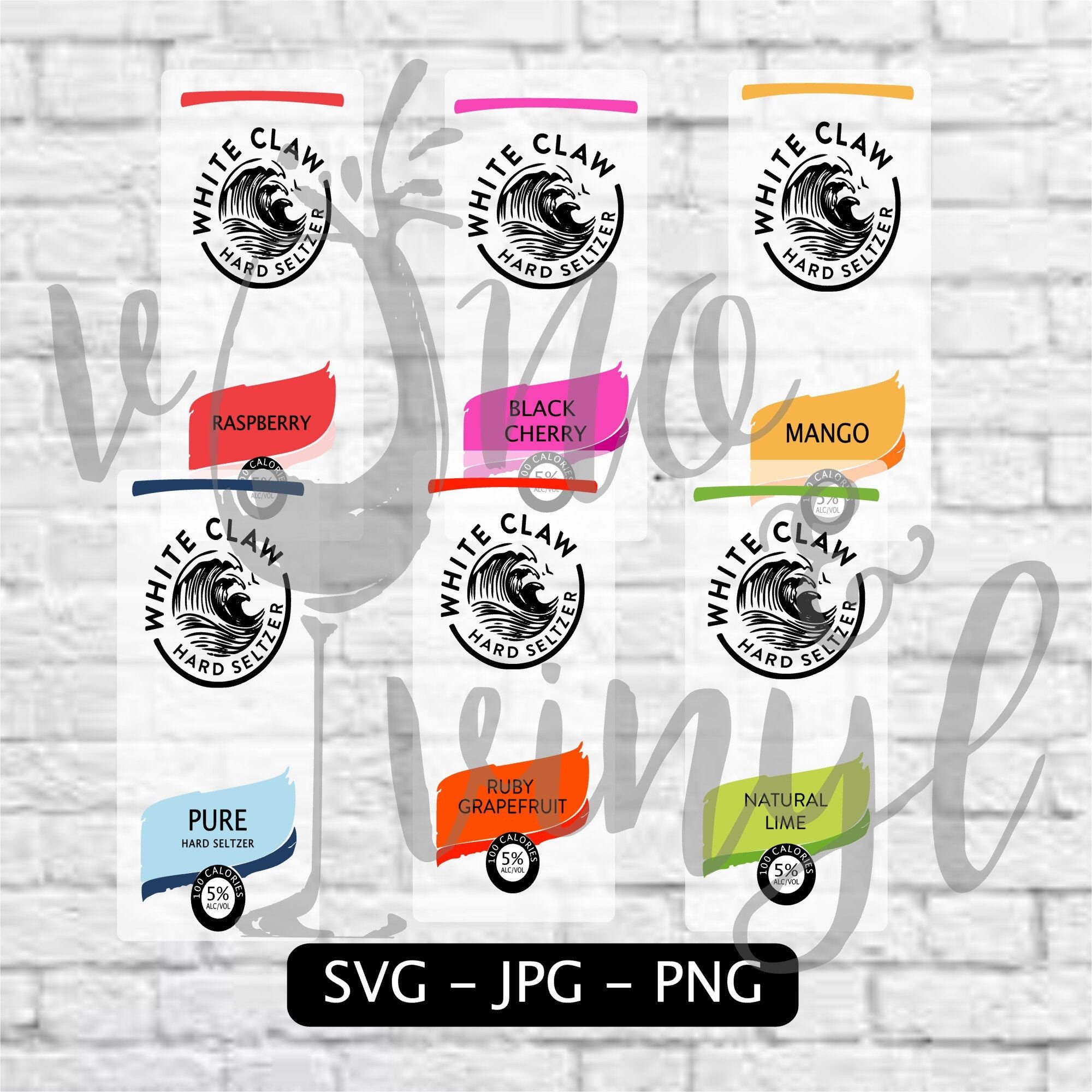 White Claw SVG/Image Combo Pack Pure, Mango, Black Cherry