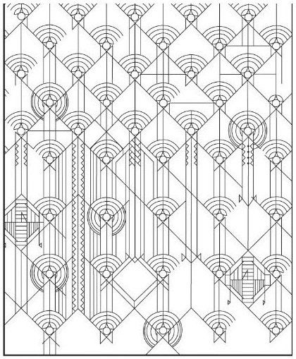 Frank Lloyd Wright Stained Glass Windows Coloring Books Pages