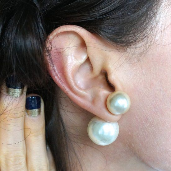 Diy Double Pearl Earrings A Fun Twist On Fashion Clic