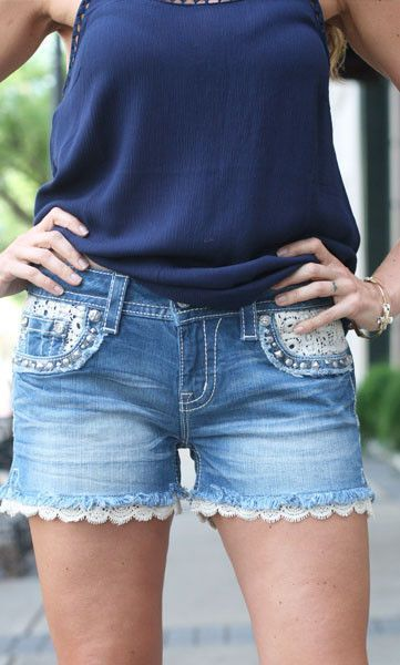Signature Lace Shorts | Ally B $99.50  These adorable shorts are a step up from your average jean short!