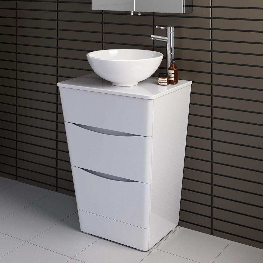 Modern Bathroom Vanity Storage Unit U0026 Countertop Basin Sink