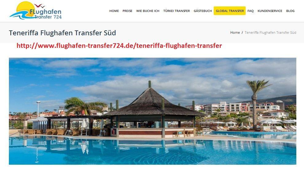 Für einen Stressfreien, günstigen Transfer vom Teneriffa