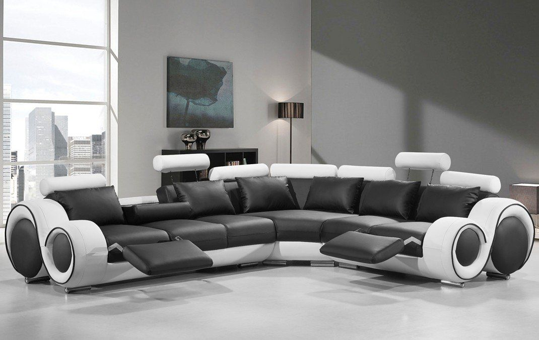 Faviola Right Hand Facing Reclining Sectional Modern Leather