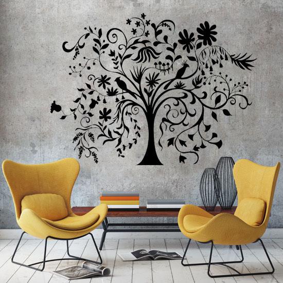Naklejka Na ścianę Z Drzewem Idealna Do Salonu Naklejki