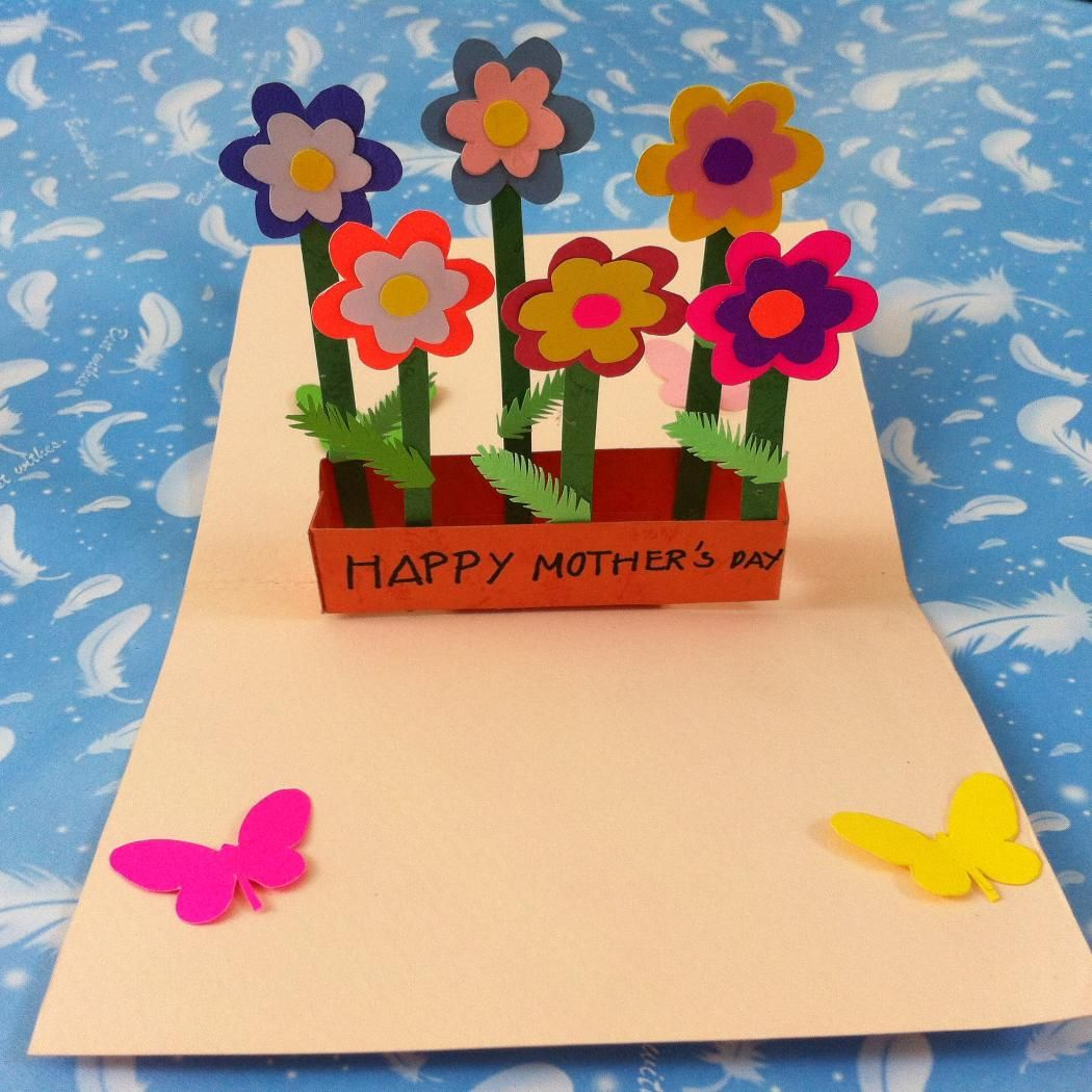 Diy pop up flower mothers day card createsie mothers