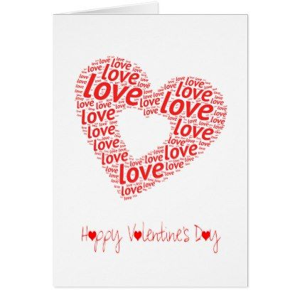 A Big Red Love Heart | Valentines Day Card - Saint Valentine\'s Day ...