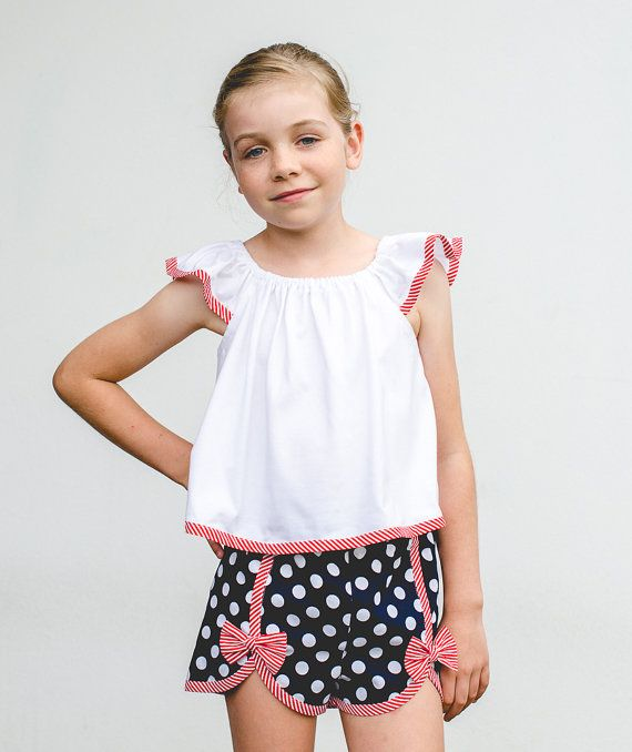 Girl\'s pdf shorts sewing pattern GIDGET SHORTS by Felicity Sewing ...