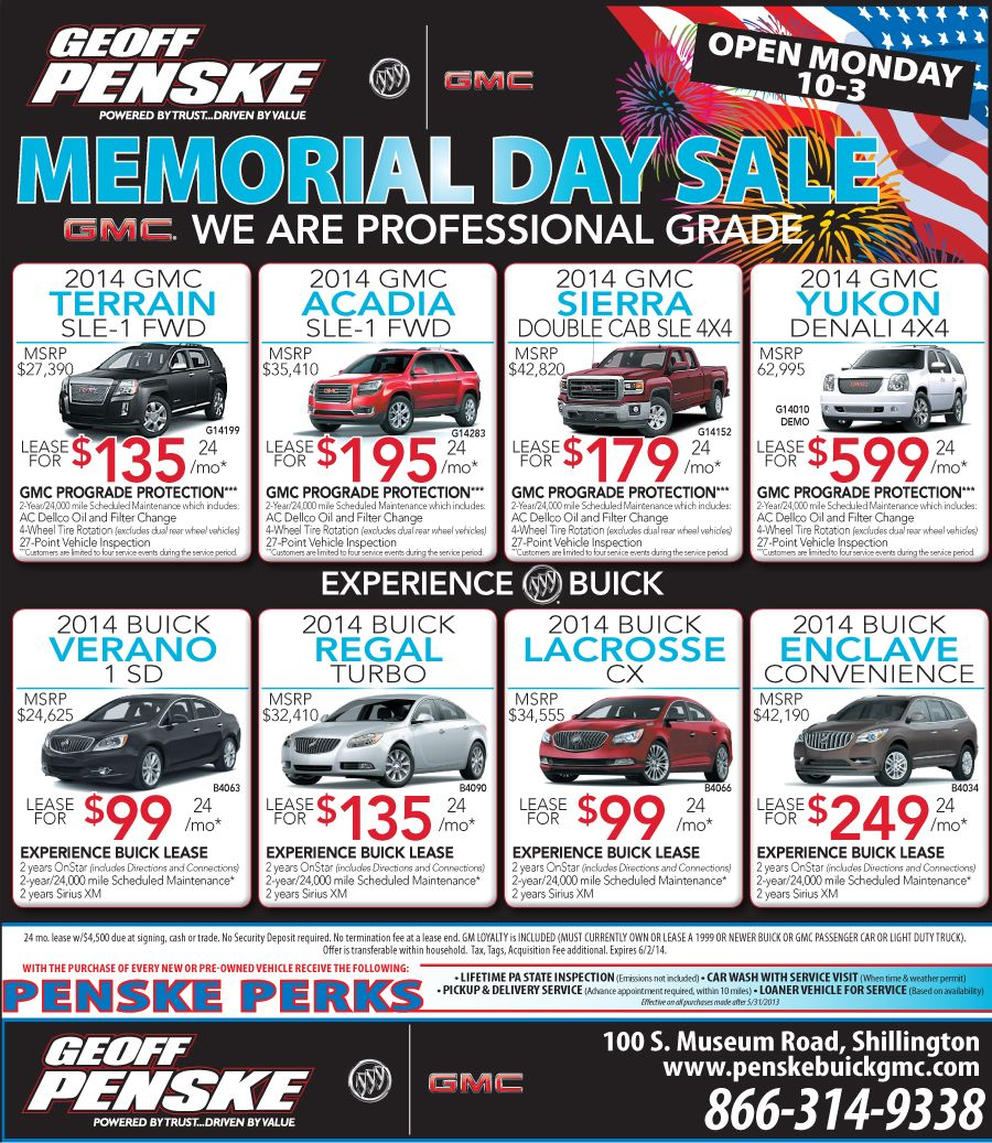 Memorial Day Sale At Geoff Penske Buick Gmc Http Www