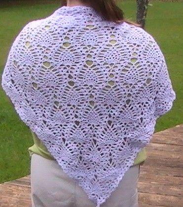 Crochet Free Pineapple Shawl Only New Crochet Patterns A