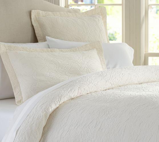 Valerie Floral Matelasse Sham Textured Bedding Duvet Modern Bed
