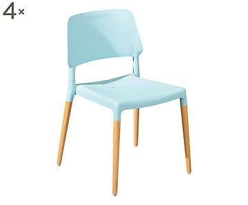 Sedie Azzurre ~ Set di sedie in poliuretano tilde blu cm armchairs