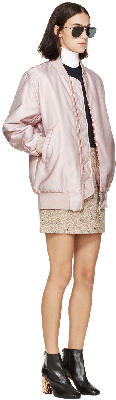 Acne Studios Pink Selow Bomber Jacket