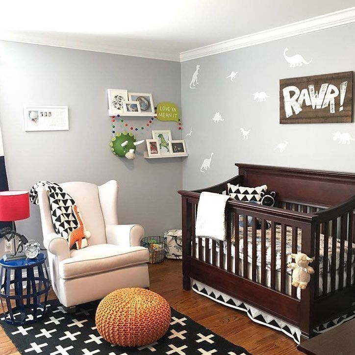 "Crystal Johnson on Instagram: ""Check this awesome Dinosaur nursery put together by @lifeofthemonteros featuring our Dinosaur wall decals! #simplylovecreations #dinosaur…"" #dinosaurnursery"