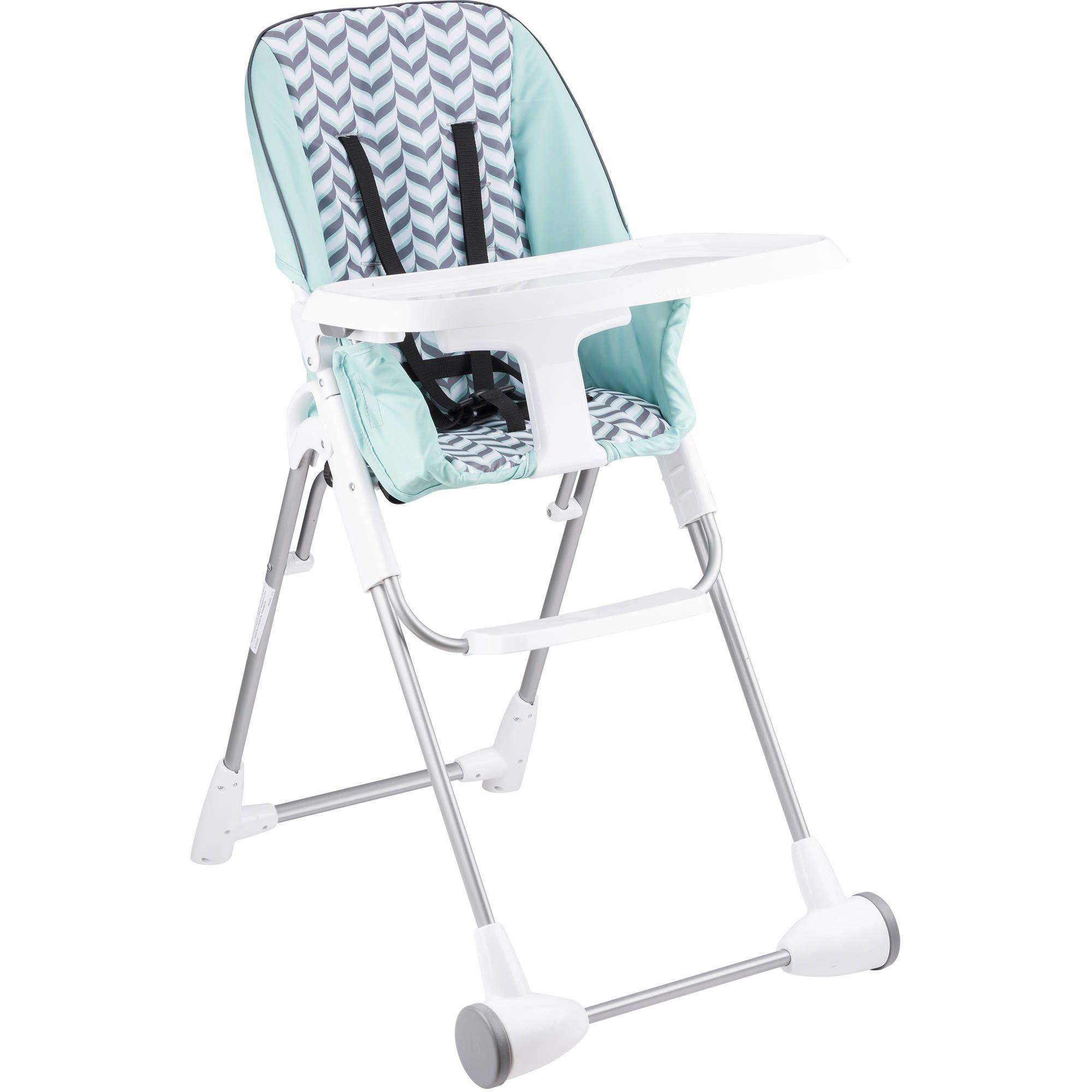 Evenflo Symmetry Flat Fold High Chair Spearmint Spree In 2020 High Chair Folding High Chair Chair