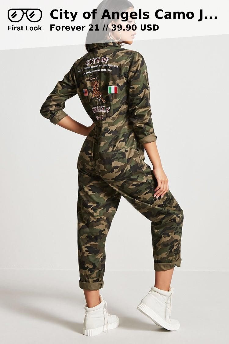 City Of Angels Camo Jumpsuit 3990 Usd Forever 21 New