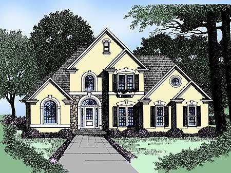 Plan 2907kd Charming European Home American House Plans European House House Plans