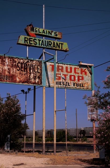 Abandoned Truckstop Wickett Texas Mcclain S Truck Stop By