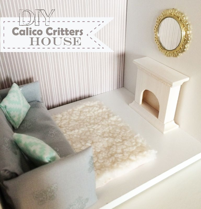 Exceptionnel Darling DIY Calico Critters House From The Reinvented Housewife! Sylvanian  Families 1/12 Scale Dollhouse Miniatures Furniture