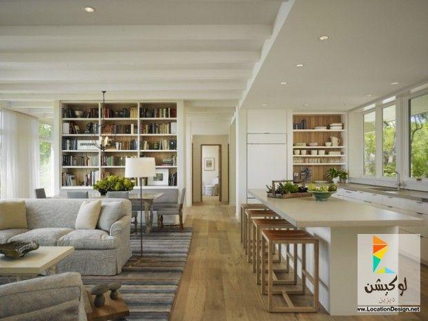 كولكشن مطابخ مفتوحه على الصاله للشقق الحديثة لوكشين ديزين نت Living Room And Kitchen Design Open Plan Living Room Open Concept Kitchen Living Room