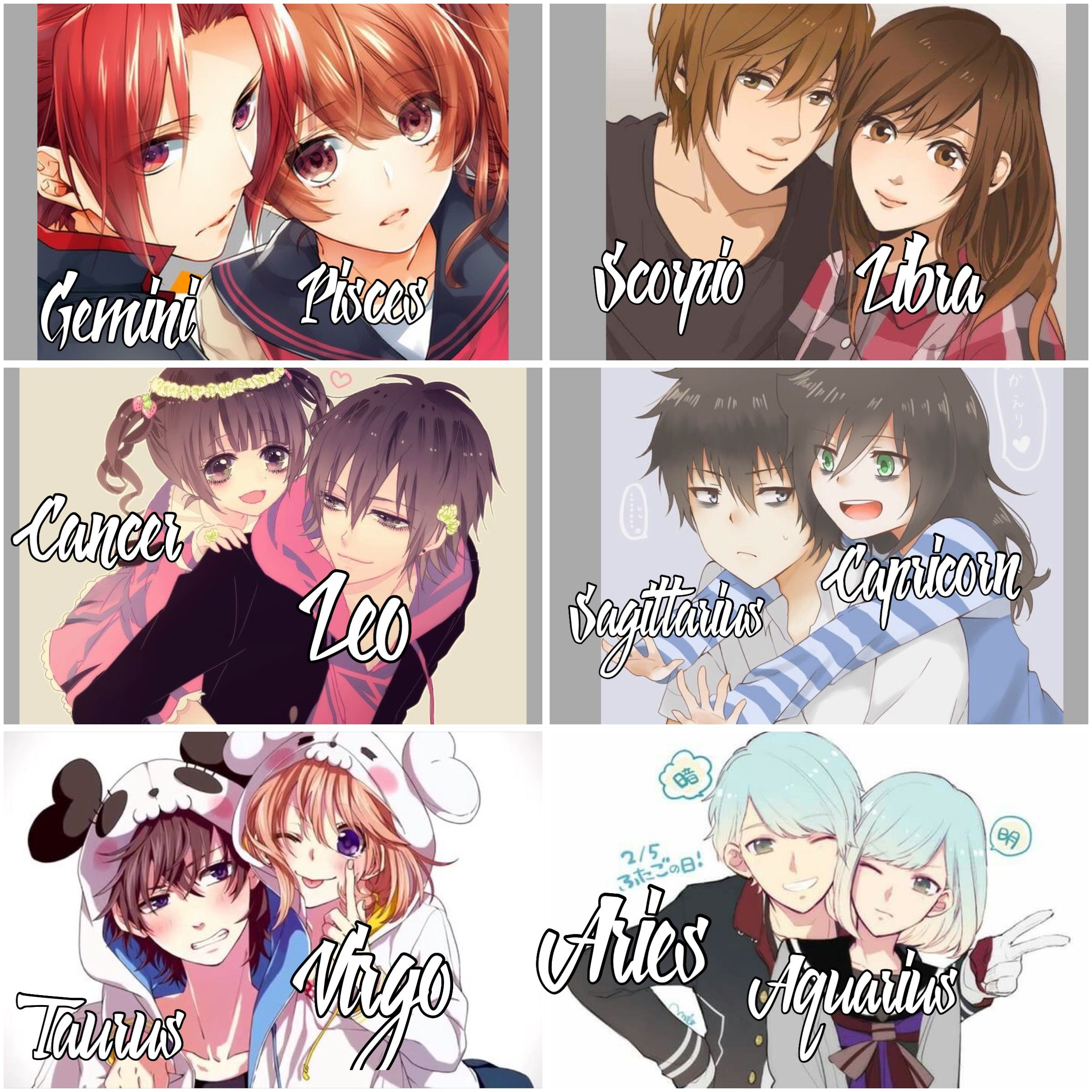 Brother And Sister Zodiac Signs Aquarius Zodiac Signs Pictures Anime Zodiac