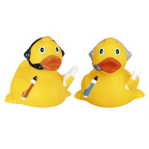 Rubber Headset Duck Rubber Duck Stage Crew Duck Toy