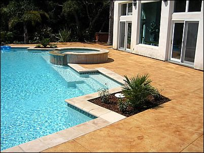 Concrete Pool Decks Photo Gallery Captivating Concrete Pool Deck Photo Gallery Offers Great Ideas For Planning