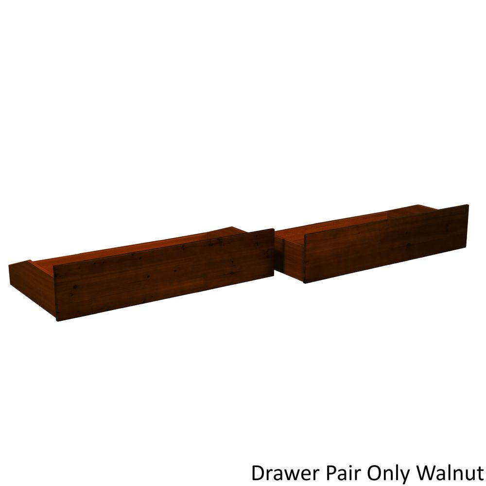All Wood Storage Drawer Pair Fits Underneath Full and Queen-size ...