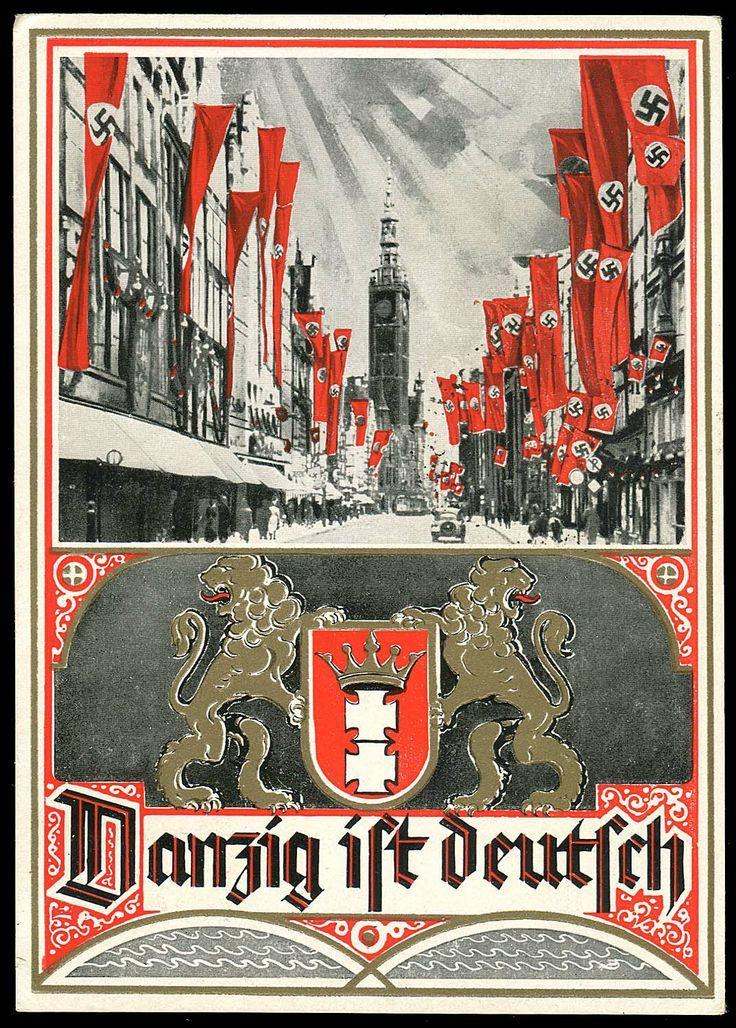 danzig ist deutsch danzig is german postcard ca 1939 ww ss poster pinterest. Black Bedroom Furniture Sets. Home Design Ideas
