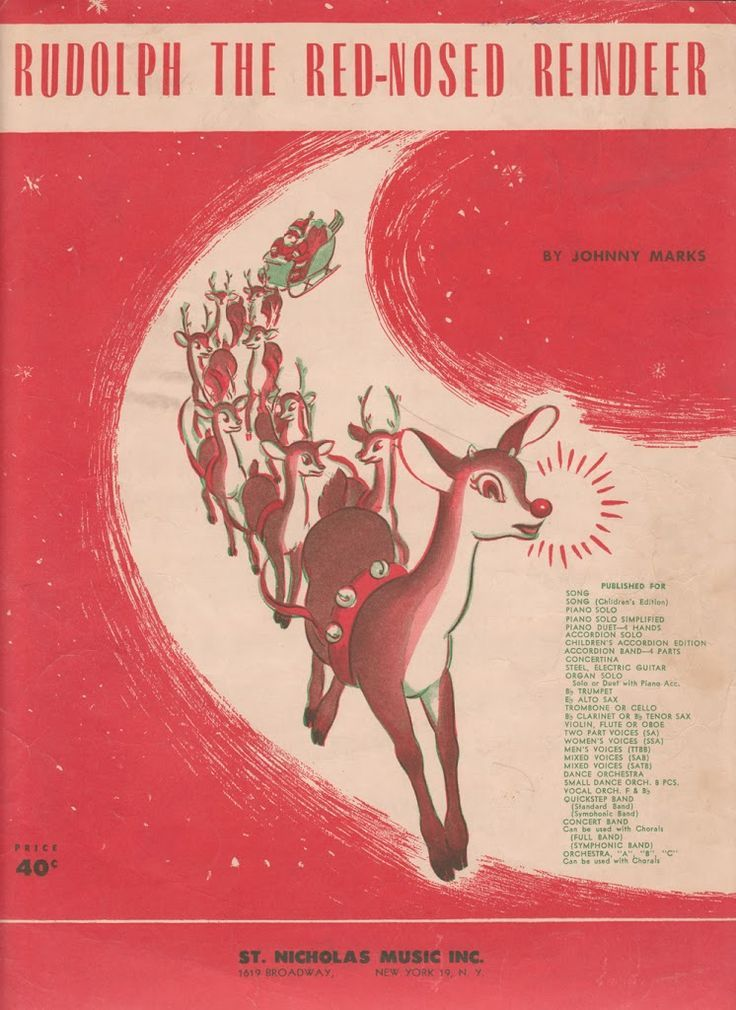 Printable Rudolph Christmas Sheet Music