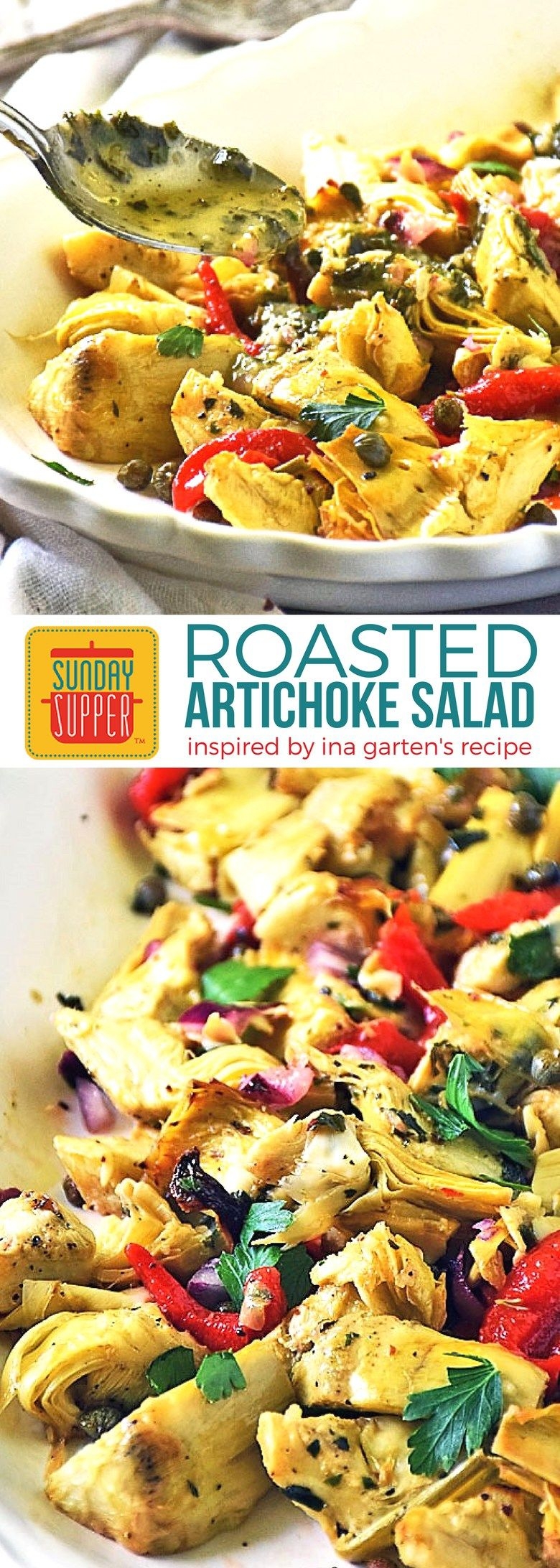 Inspired By Ina Garten S Roasted Artichoke Salad This Is One Of The Easiest Prettiest Holiday Recipes You Should Be Serving For Thanksgiving