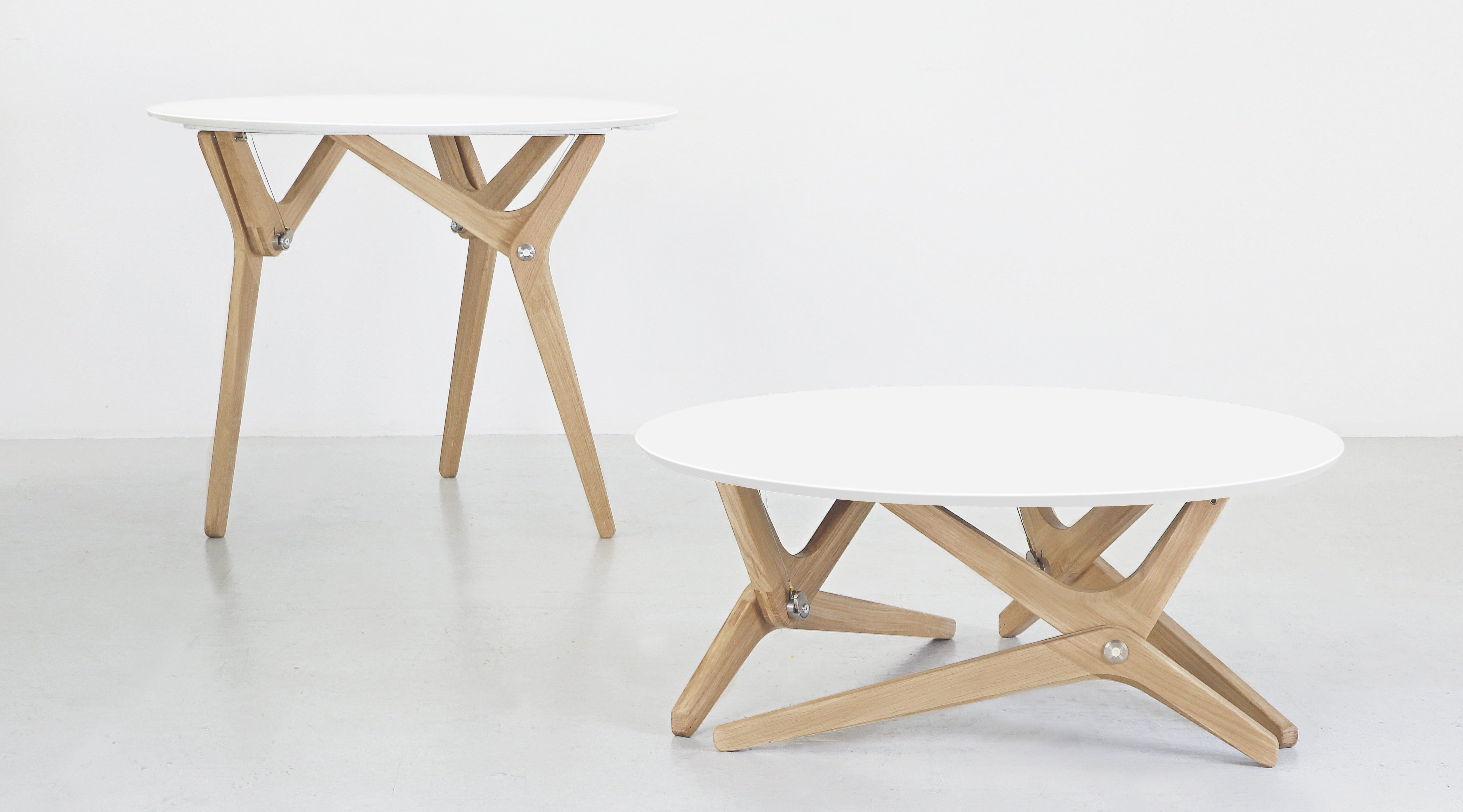 Boulon Blanc Modern Table Design Coffee Table Coffee Table Convert To Dining Table