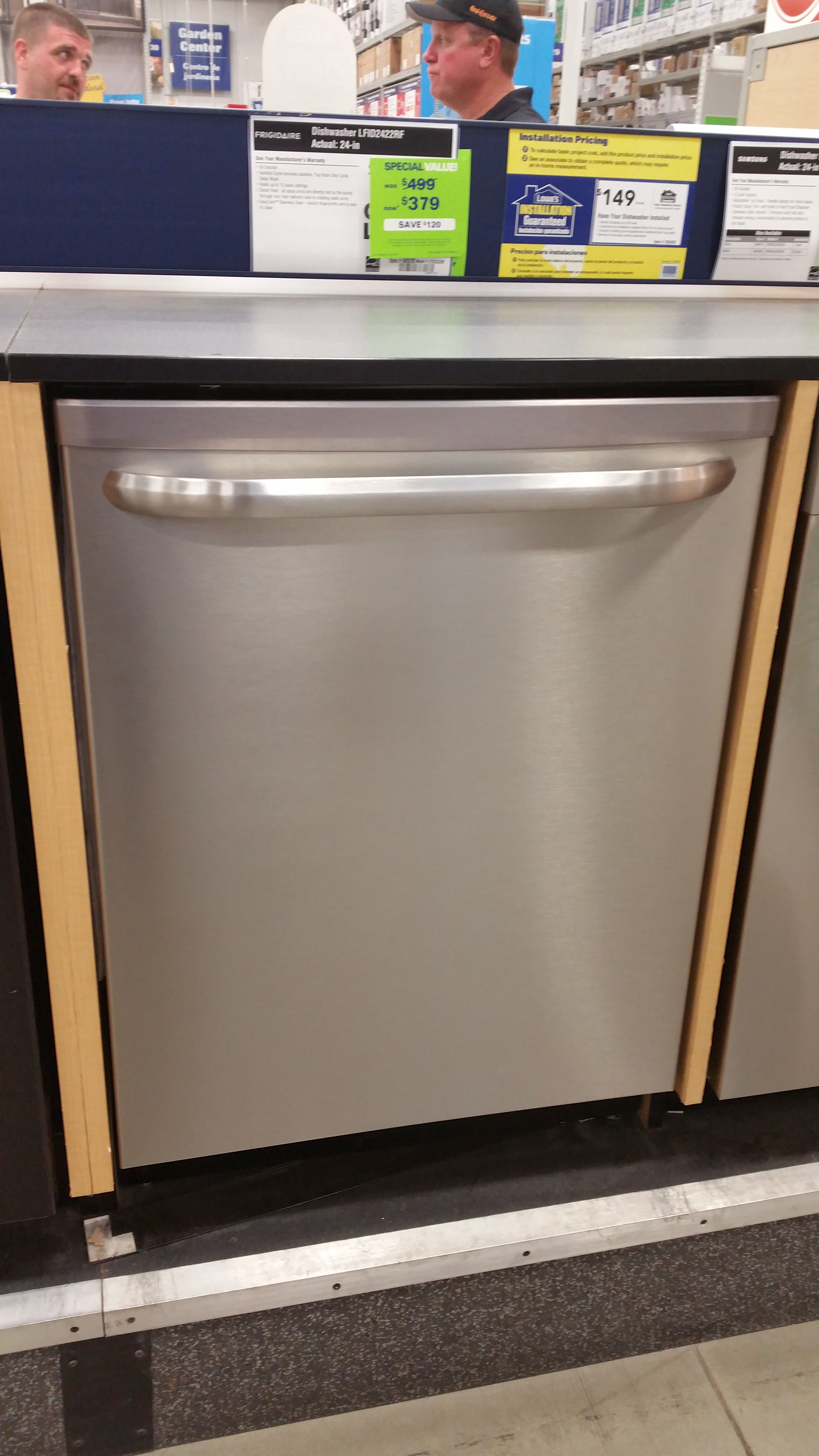 Dishwasher At Lowes For 399 Trash Can Tall Trash Can Lowes