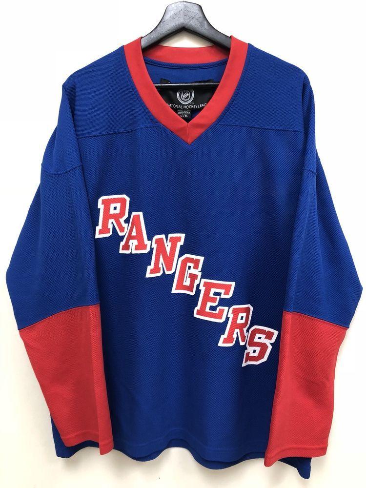 280f4ae2b NHL New York Rangers Jersey Hockey Blue L Nice! Free Shipping