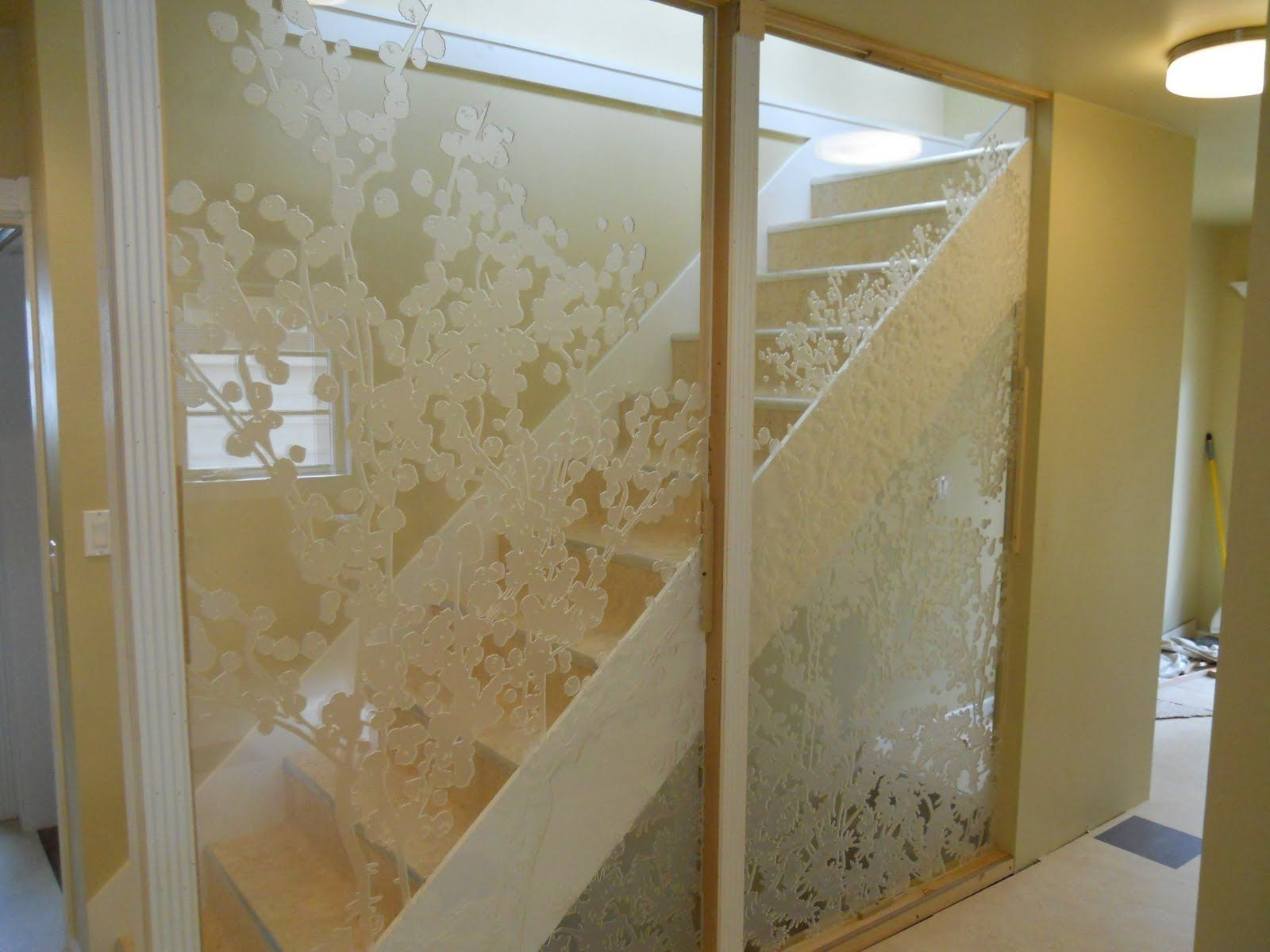 transparent wall panels. Transparent Wall With Pattern Panels
