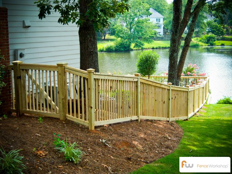 Beautiful custom picket fence and gate for the backyard for 4 foot fence ideas