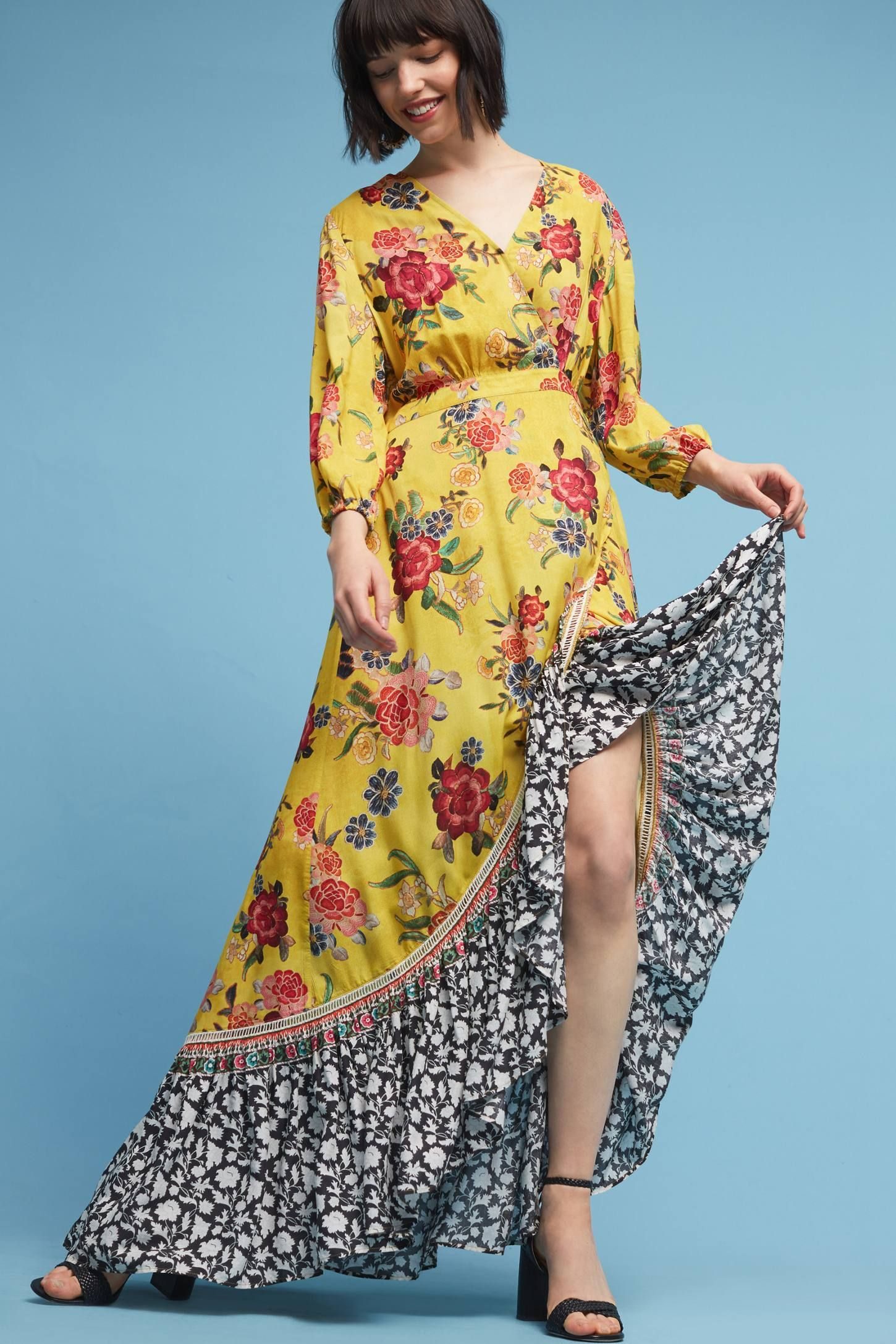 eab72c9bd06 Shop the Farm Rio Sunlit Floral Maxi Dress and more Anthropologie at  Anthropologie today. Read customer reviews
